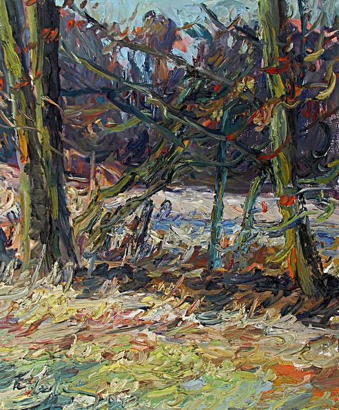Ferch bei Berlin   2002, Öl auf LW, 46 cm x 55 cm