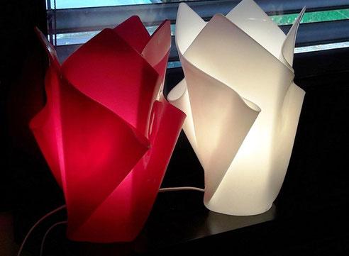 Vasen - Lampe in Pink & weiß