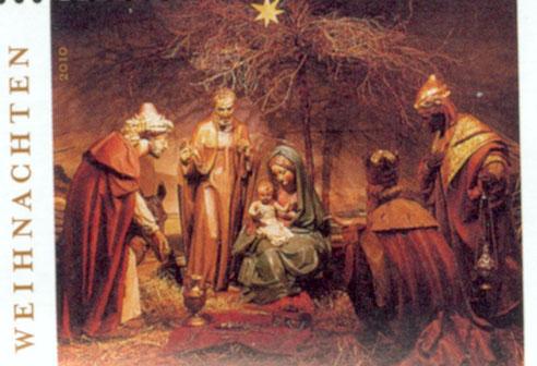 Abb.: Weihnachtsmarke der Deutschen Post 2010