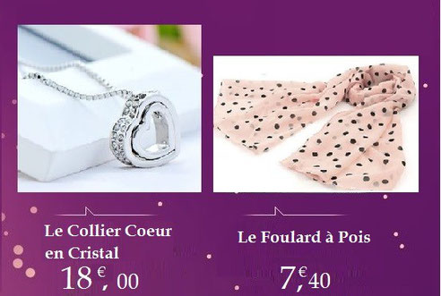 colliers foulards idées cadeaux noël Bijoux des Lys