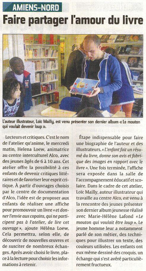 article Courrier picard 14 janvier 2012