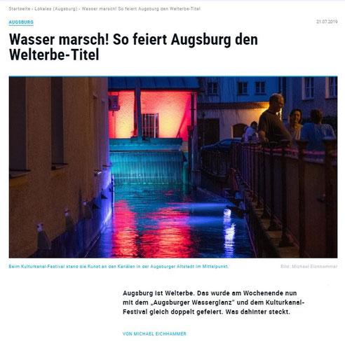 Stadtillumination - Illumination - WASSER - KRAFT - LICHT Stadt Augsburg Welterbe - Augsburger Allgemeine Zeitung online