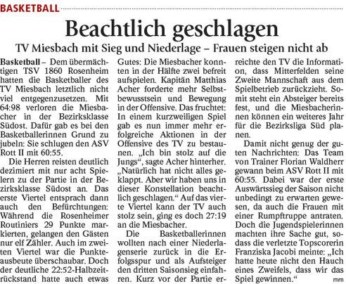 Bericht im Miesbacher Merkur am 30.01.2018 - zum Vergrößern klicken