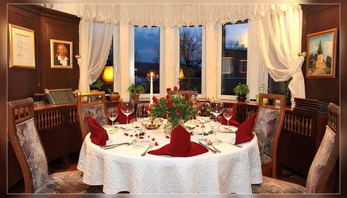 Stützerbach Ilmenau Rennsteig Hotel Übernachtung Restaurant Feinschmecker Gourmet Wein Forelle Steak Lamm Wild