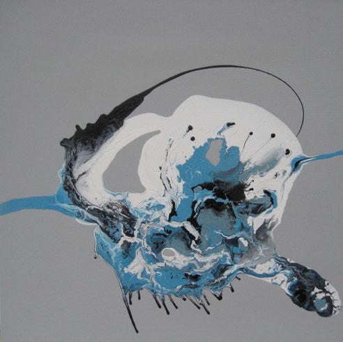 ohne Titel, 70 x 70 cm, Acryllack, Acrylfarbe