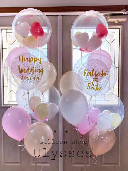 結婚祝い バルーンギフト バルーンアート バルーンブーケ ウェディングバルーン電報 土浦市 つくば市