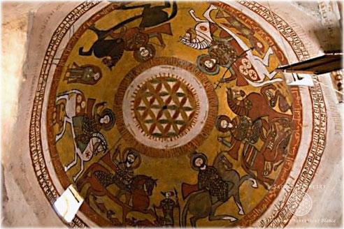 4世紀に建てられたエジプトの聖パウロ修道院の天井絵(16-17世紀)