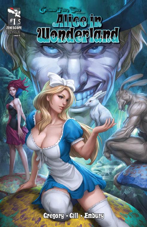 комикс Алиса в стране чудес