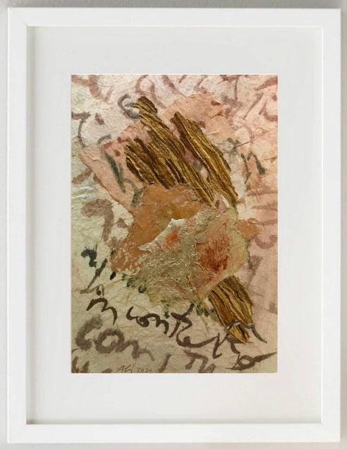 """43/ ALIDA BRUNATI, """"PORTATO DAL VENTO"""", 2020, Collage, Tecnica mista, 20 x 30"""