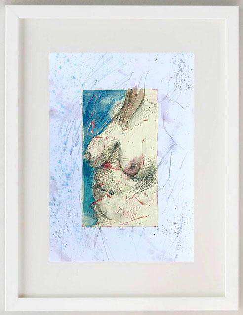 """44 / ANTONIO FAVALE, """"Venere - Dea Madre 3"""", 2020, Acquerello e pastelli su carta, 20 x 30"""