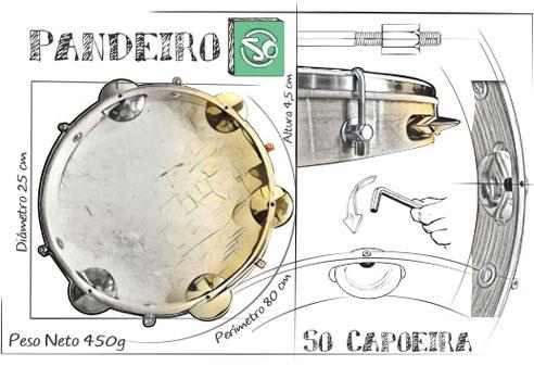 Instrumento Pandeiro So Capoeira