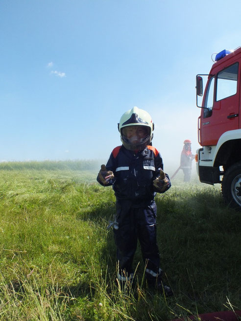Wenn wir groß sind werden wir Feuerwehrmänner