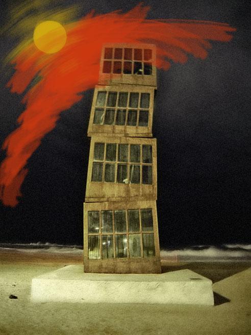 FischerbudenTurm am Strand