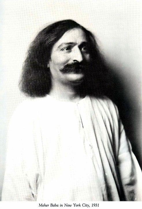 This is how Meher Baba appeared to Elsie in New York on his first trip to the US in 1931.  Photo taken by Arnold Genthe.