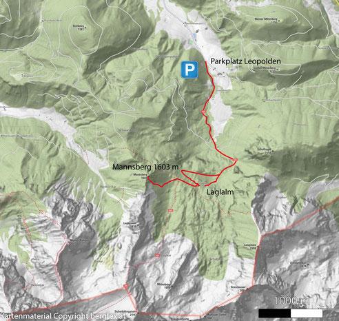 Mannsberg über Leopolden und Laglalm am Hengstpass