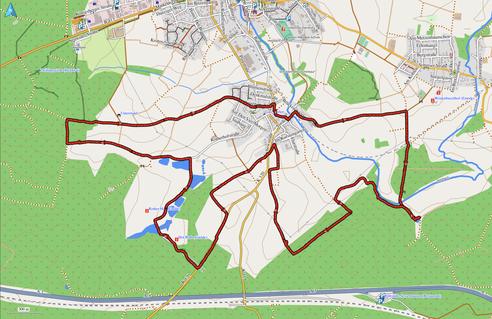 GPXTrack 12,5 km Wanderung auf dem Schöwer Rundwanderweg