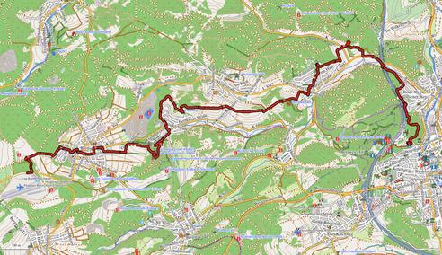 GPXTrack 18,5 km -  Etappe 1 auf dem WW-Steig Breitscheid - Herborn