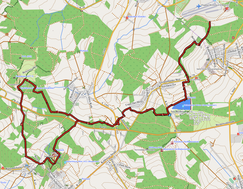 GPXTrack 20 km -  Etappe 3 & 2 auf dem WW-Steig  Rehe - Breitscheid