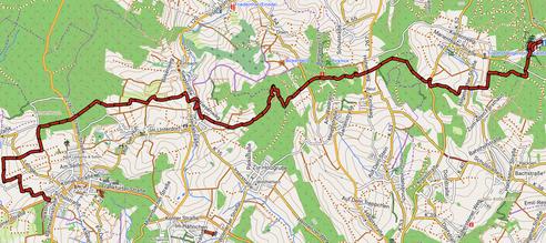 GPXTrack 13. Etappe WW-Steig