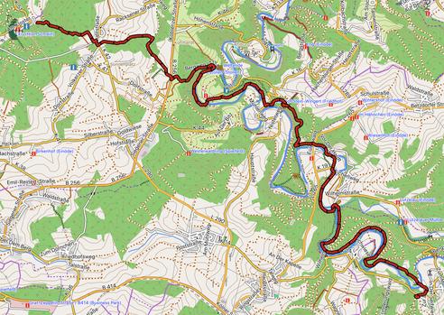 GPXTrack 10. Etappe WW-Steig - Marienthal - Astert