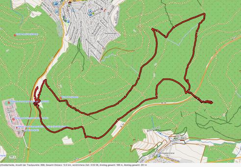 """GPXTrack 12 km Wanderung im """"Allgäu des Siegerlands""""  - und die Heide brennt!"""""""