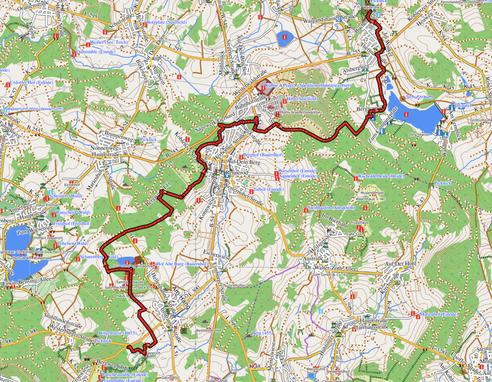 GPXTrack 19 km -  Etappe 4 auf dem WW-Steig Hofgut Dapprich - Rehe