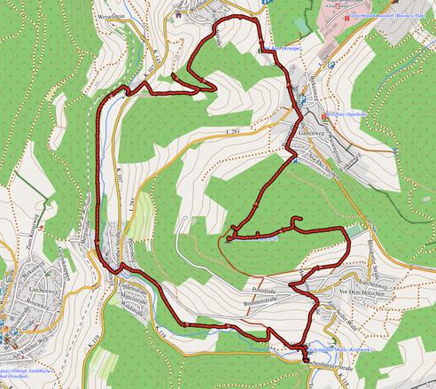 GPXTrack 11 km Aussichtsreiche Mühlenwanderung