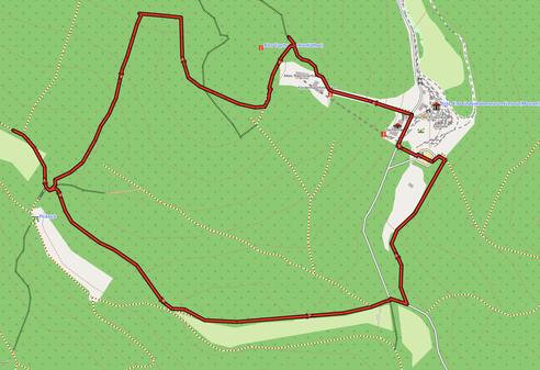 GPXTrack 4 km Wanderung Bergbau-Lehrpfad Grube Fortuna