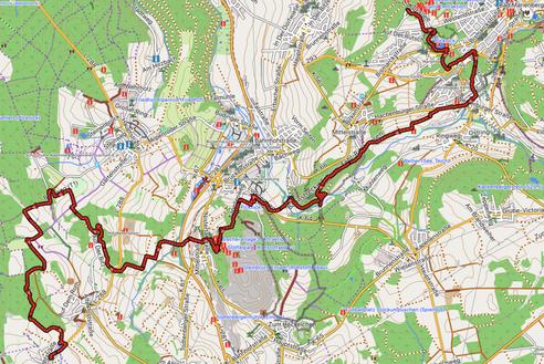 GPXTrack 7. Etappe WW-Steig  Bad Marienberg - Linden