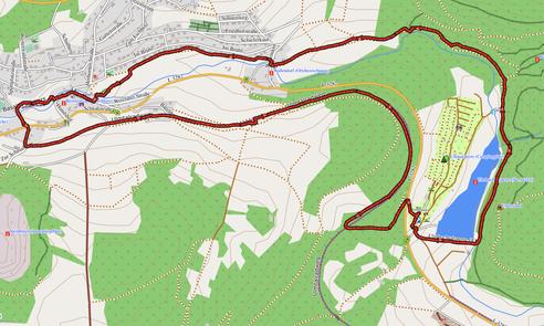 """GPXTrack 8 km Wanderung Kleiner Wäller Nr. 10: """"Basalt und Wasser"""""""