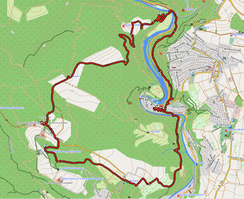 GPXTrack 13 km Rundwanderung auf dem Fürstenweg