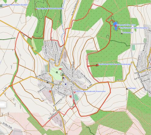"""GPXTrack """"11 km Schloßrunde um Friedewald"""""""