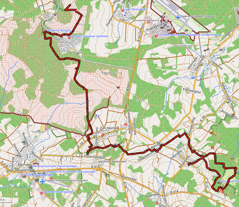 """GPXTrack """"9 km """"Gipfeltour"""" – über die drei höchsten Gipfel des Westerwaldes"""""""