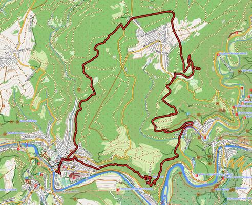 """GPXTrack 19 km Wanderung """"Katzenstein Tour"""""""