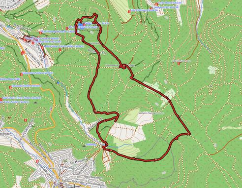 """GPXTrack """"12 km Hohenseelbachskopf und Silbersee"""""""