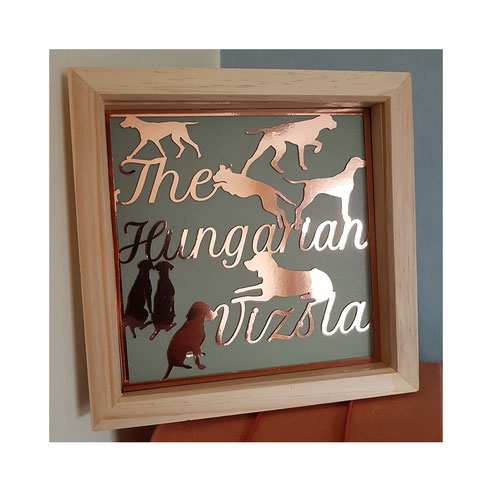 Chantals Gifts, made in wheathampstead, hertfordshire UK, hungarian viszla designs, created with care.