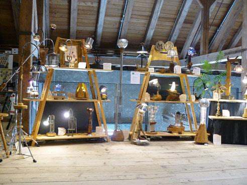 ML Upcycling Licht: Ausstellungsstand auf der Interior in Fürstenfeldbruck
