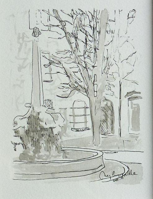 Aix en Provence, place, quatre Dauphins,