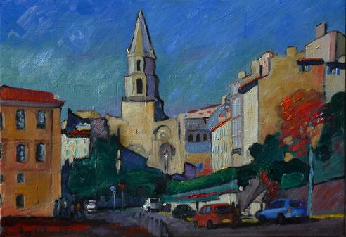 Marseille, église des Accoules, Ambrogiani, Hôtel dieu, maison diamentée, quartier du Panier