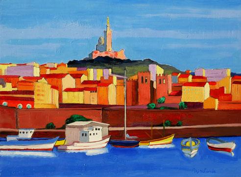 vieux port, dame de la garde, Marseille, Basilique Saint Victor