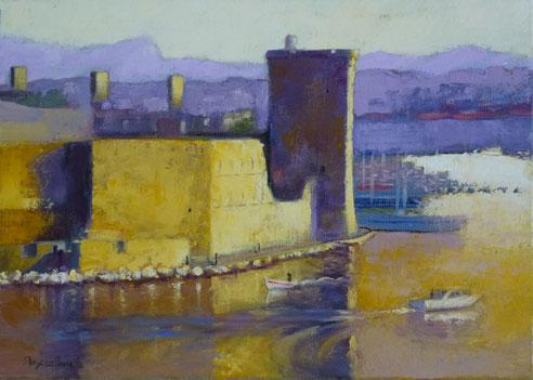 Vieux-Port, Marseille, tour, roi, René, fort, Saint-Jean,