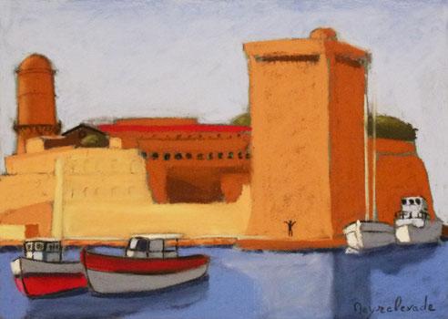 Marseille, douane, tour, roi, René, fanal, fort, Saint Jean, Vieux Port,