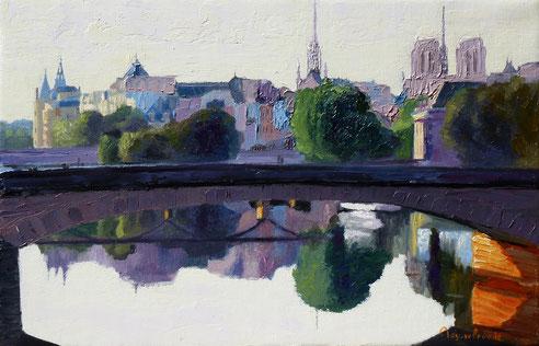 Pont, neuf, des arts, saint louis, ile, Notre Dame, Paris, Seine quai, orfèvres,