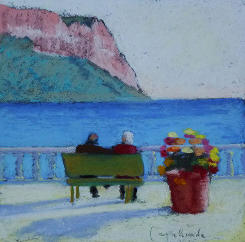 cap, Canaille, paste,l Cassis, Marseille, jacques Peyrelevade, port, bouquet, fleurs,