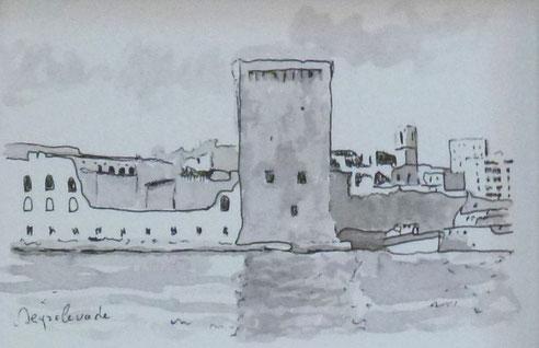 Marseille, fort, Saint Jean, tour, roi René douane, église, Saint Laurent, immeuble, maison, Pouillon,