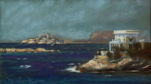 Baie, Marseille, Petit Nice, Malmousque, pont, Fausse Monnaie, ile, Château d'If, Gaby,