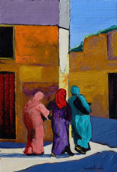Maroc, médina, Fes, Fez, Jacques Peyrelevade, gandoura,peinture, peintre, orientaliste,