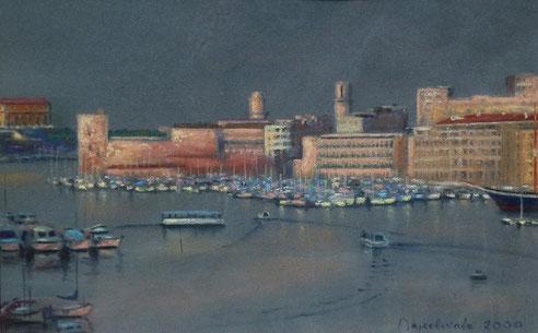 Marseille, Vieux Port, palais, Pharo, fort Saint Jean, fanal, Accoules, égise, Saint Laurent,