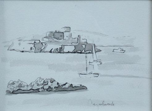Marseille, château, If, île, Gaby, Corniche