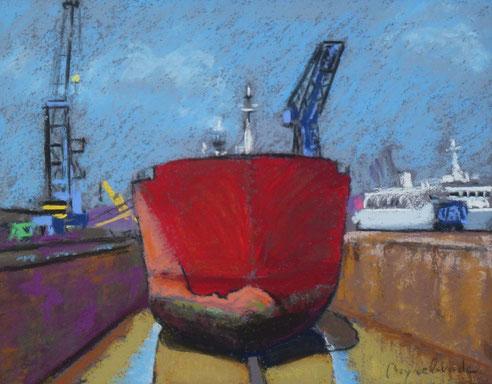 Bassin, radoub, chantier naval, pétrolier, Marseille, port autonome,